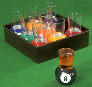 No Drinks near your pool table