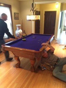 Pool table Removalists have to disassemble the table first